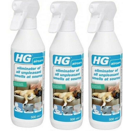 HG eliminator of all unpleasant smells at source 500ml Pack of 3